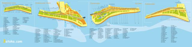 Карта Затоки